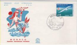 FDC Monaco 1975 Exposition Okinawa - Möwen