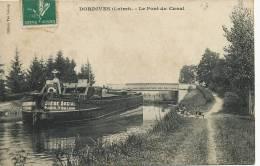 Dordives  Pont Du Canal Edit Leloup Peniche Batellerie Voyagé Siege Social Parius Rue Lacuée - Dordives
