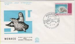 FDC Monaco 1970  Phoque - Meeressäuger