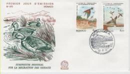 FDC Monaco 1991 Birds / Oiseaux - Vögel