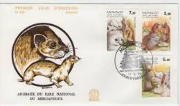 FDC Monaco 1986  Mammals / Mammifères  I - Briefmarken