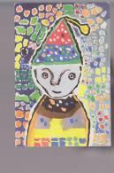 Cpa,   Le Clown ( Peintures Libres D'enfants ) , Voyagé - Circo