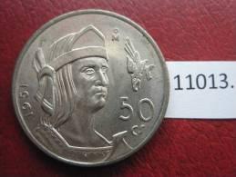 Mexico ,  50  Centimos  De Plata  1951  , Mejico - Mexico
