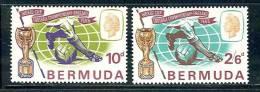 "Bermuda       ""Worl Cup Soccer""     Set      SC# 205-06    MNH - Bermuda"