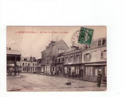 27 - Beuzeville Un Coin De La Place Et La Poste - Non Classificati
