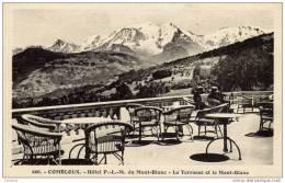 74-COMBLOUX-Hôtel P.L.M.La Terrasse Et Le Mont-Blanc - Combloux