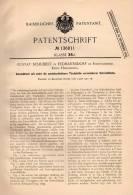 Original Patentschrift - G. Schubert In Erdmannsdorf B. Hirschberg , 1901 , Schreibtisch , Myslakowice B. Jelina Góra !! - Meubles