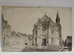 CPA 49 Maine Et Loire   -  SAINT MARTIN DU BOIS - L'église - France