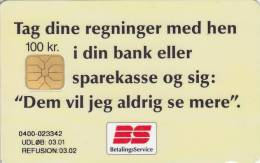 Denmark, DD 203b, Bs Regninger, Only 19968 Issued, 2 Scans.   03.01 - Danemark