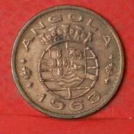 ANGOLA  1  ESCUDOS  1963   KM# 76  -    (1133) - Angola