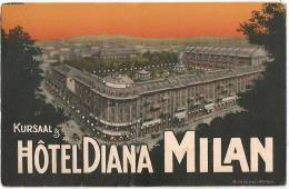 MILANO - KURSAAL - HOTEL DIANA - CARTOLINA PUBBLICITARIA - Milano (Milan)