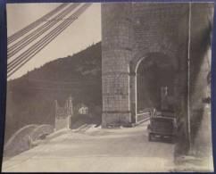1926 Ancienne Photo Originale Ht Savoie 74 Construction Du Nouveu Pont De La CAILLE  Ancien AUTOMOBILES Voiture ANNECY - Lugares