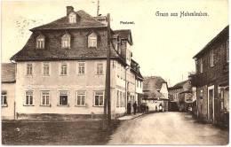 GRUSS Aus HOHENLEUBEN - Postamt +++ RARE ANIMÉE +++ C. Eichelkraut, Hohenleuben ++++++ - Greiz