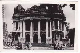 Brazil Rio De Janeiro Teatro Municipal Cartao Postal Photo Original Postcard Cpa Ak (W_831) - Rio De Janeiro