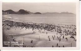 Brazil Rio De Janeiro Praia Copacabana Cartao Postal Photo Original Postcard Cpa Ak (W_847) - Rio De Janeiro