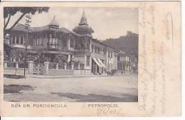 Brazil Rio De Janeiro Rua Dr. Porciuncula De Petropolis Cartao Postal Original Postcard Cpa Ak (W_804) - Rio De Janeiro