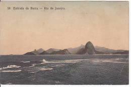 Brazil Rio De Janeiro Entrada Da Barra Cartao Postal Original Postcard Cpa Ak (W_807) - Rio De Janeiro