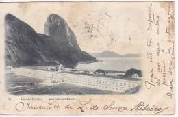 Brazil Rio De Janeiro Escola Militar Cartao Postal Original Postcard Cpa Ak (W_810) - Rio De Janeiro