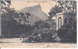 Brazil Rio De Janeiro Jardim Botanico - Corcovado Cartao Postal Original Postcard Cpa Ak (W_819) - Rio De Janeiro