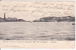 Brazil Rio De Janeiro Ila Das Cobras E Arsenal De Marinha Cartao Postal Original Postcard Cpa Ak (W_828) - Rio De Janeiro