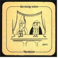 Bierdeckel  Warsteiner -  Das Einzig Wahre - Kultur - Sous-bocks