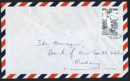 PNG  1969 Letter  Third South Pacific Games 5d  Sailing Solo Use - Papouasie-Nouvelle-Guinée