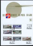 1974  Air Mail Issue  Complete Set Of 7 In Presentation Folder With First Day Cancel - Malta