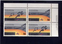 CANADA, 1978  # 760A,    X1  COMMONWHEALT GAMES    USED  UR BLOCK - Blocs-feuillets