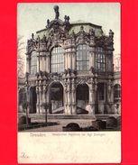GERMANIA - Cartolina - Postkarte - Dresden - Westlicher Pavillon Im Zwinger- 1904 - Dresden