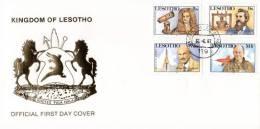 Lesotho - 1987 Scientific Discoveries FDC # SG 761-764 , Mi 630-633 - Ciencias