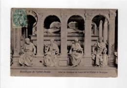 Basilique Tombeau Louis XII Et Anne De Bretagne - Ed. Quointe - CPA Détails - Marcophilie CAD Seine - Liébard - Saint Denis