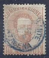 ESP0291  EDIFIL Nº 125 MATASELLOS AMBULANTE AZUL - 1872-73 Reino: Amadeo I