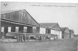AVORD (CHER) CENTRE  MILITAIRE  D'AVIATION - HANGARS ET  APPAREILS ECOLE - 1914-1918: 1ère Guerre