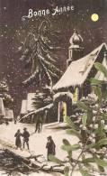 Paysage De D'hiver Et Gui  Bonne Année édition Gloria TTB - Anno Nuovo