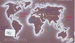 Télécarte Japon MAP * Carte Du Monde * GLOBE (281) Géographie * Mappemonde * Japan Phonecard * Telefonkarte * - Spazio