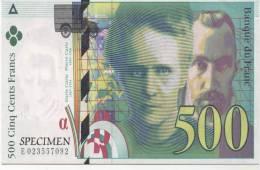 500 FRANCS  CURIE N° 08.. SUPER ETAT - Monnaies (représentations)