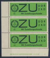 DDR Dienst Gruppe E Michel No. 2 x ** postfrisch / DV Druckvermerk kleiner Bug