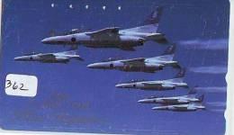TELECARTE JAPON * MILITAIRY AVION  (362) Flugzeuge * Airplane * Aeroplanos * PHONECARD JAPAN * - Vliegtuigen