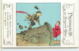 RABIER BENJAMIN  -  Prodigalité,Carte Publictaire De La Samaritaine Boulevard Des Capucines. - Rabier, B.
