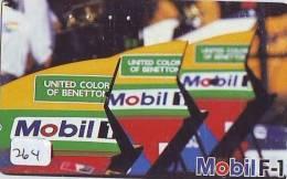 Télécarte Japon * Publicité Pétrole Essence ESSO (264) Phonecard Japan * Telefonkarte * PETROL STATION * BENETTON *MOBIL - Petrole