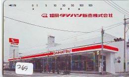 Télécarte Japon * Publicité Pétrole Essence ESSO (269) Phonecard Japan * Telefonkarte * PETROL STATION * DAIHATSU - Petrole