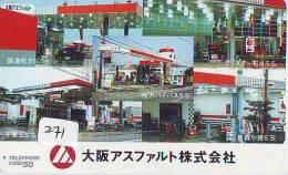 Télécarte Japon * Publicité Pétrole Essence ESSO (271) Phonecard Japan * Telefonkarte * PETROL STATION * - Petrole