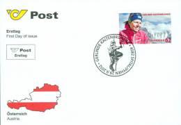 Austria Österreich 2012 - Gerlinde Kaltenbrunner FDC - First Day Cover - 2011-... Unused Stamps