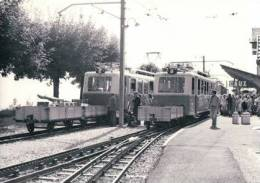 Chemin De Fer GN, Train à Caux Gare, Photo 1977 BVA 81.4 GN - VD Vaud