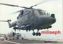 WESTLAND LYNX - Photo Et Fiche Fiche Technique Hélicoptère - 1983         (2856) - Aviazione