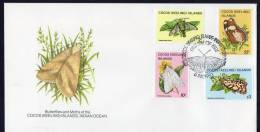 Cocos Islands 1983 Butterflies And Moths FDC - Incl $3 Stamp - Cocos (Keeling) Islands