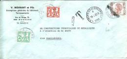 Lettre Taxée Du 19/4/82 De Strépy Bracquegnies à Familleureux Avex Timbres TX67 Et TX71