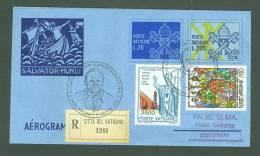 VATICAN 1993 AEROGRAMME REGISTERED POPE JOHN PAUL II Travel To COUTONOU BENIN (WITH NEWSPAPER OF EVENT) (E6399 - Vatican