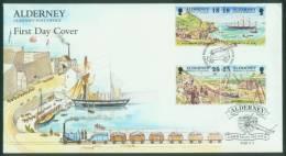 Guernsey-Alderney  1997  Histor. Entwicklung Von Alderney  (1 FDC )  Mi: 108-11 (3,00 EUR) - Alderney