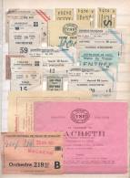 16 TICKETS THEATRE PALAIS DE CHAILLOT COMEDIE FRANCAISE SAINT-GEORGES NOTRE DAME DE PARIS MARIGNY METRO - Tickets - Vouchers